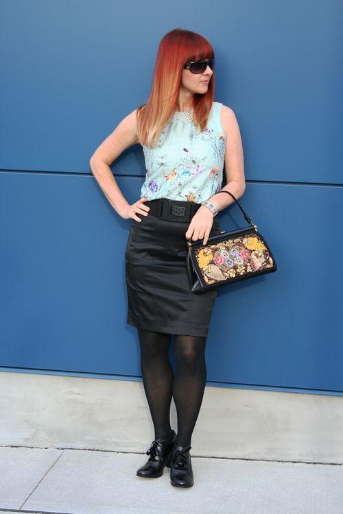 Black pencil skirt suzanne carillo