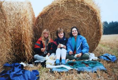 Scotland picnic in a field