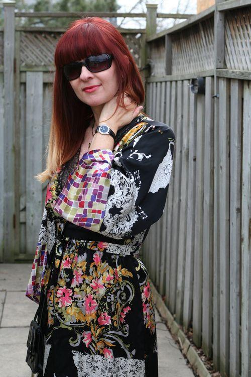 Silk kimono dress suzanne carillo