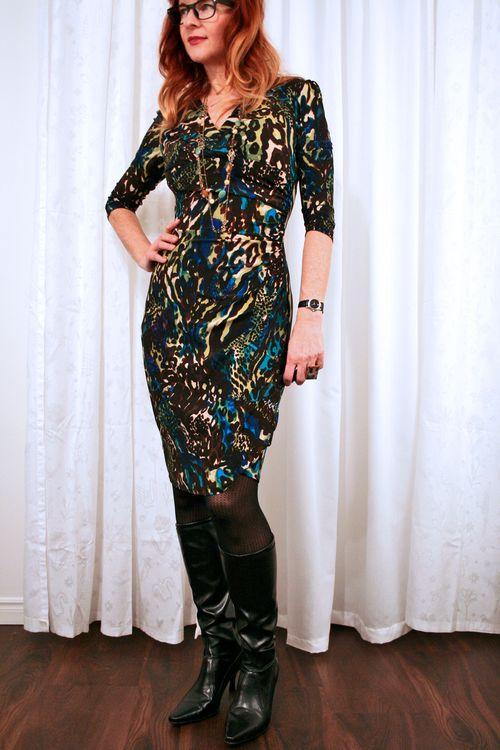 Black blue and brown dress suzanne carillo