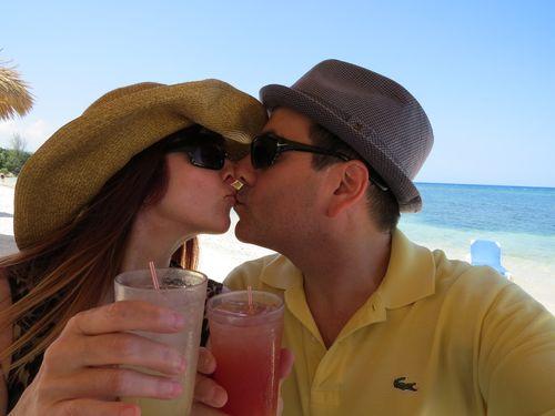Kiss on the beach montego bay