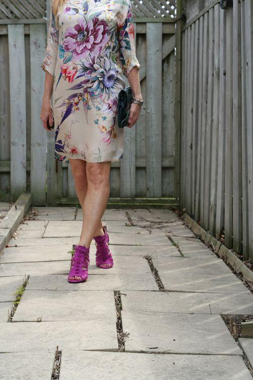 Floral zara dress vince camuto sandals