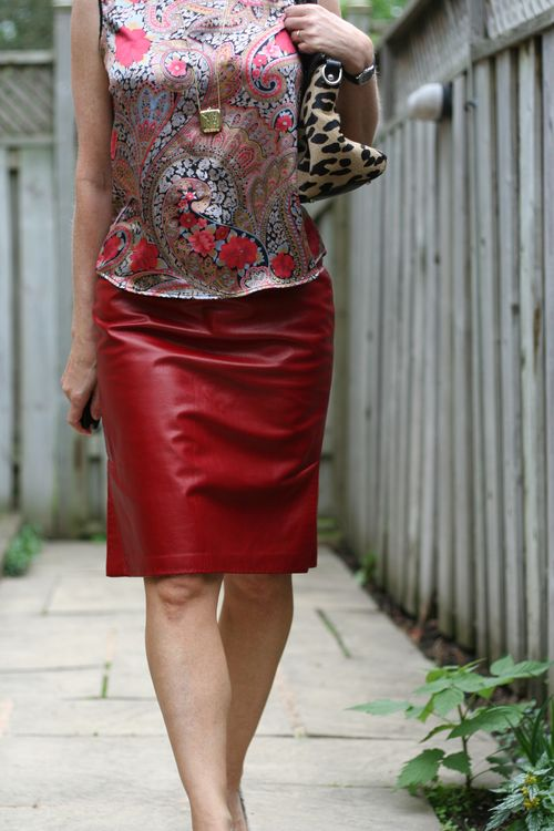 How to wear red leather when you're over 40 suzanne carillo style files