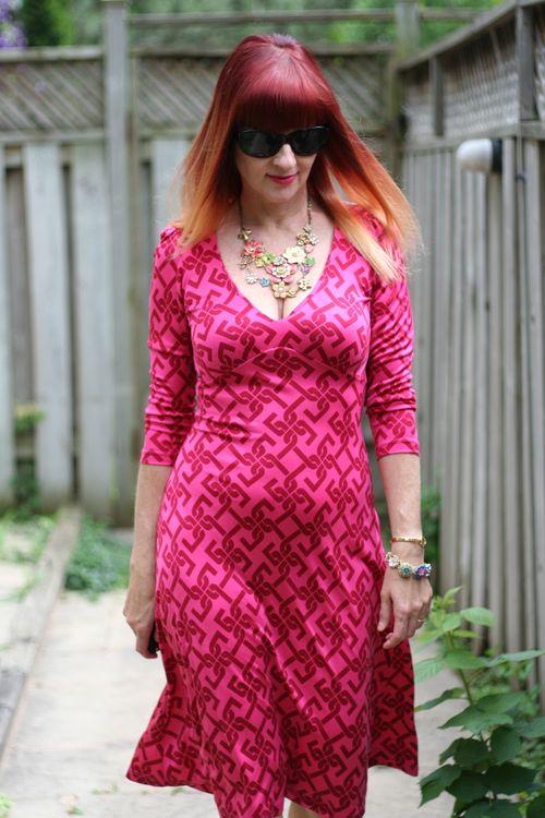 Pink tartan dress suzanne carillo style files