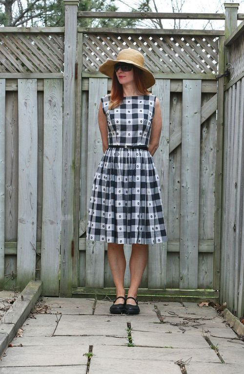 What to wear on a fat day. Fit and flare black and white vintage gingham dress what to wear on a fat day suzanne carillo style files
