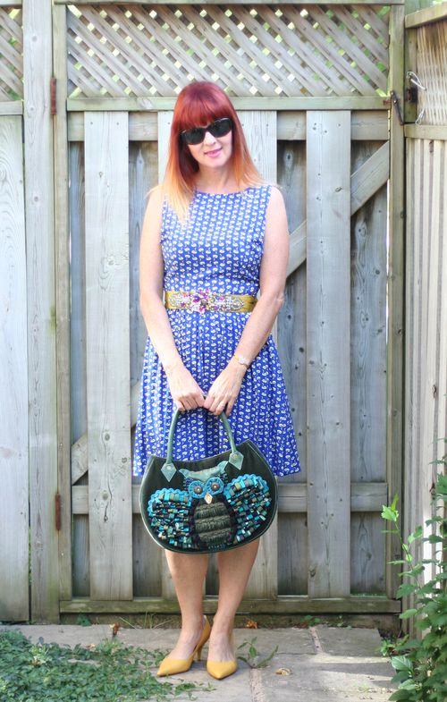 Vintage inspired fit and flare dress dorothy perkins dress suzanne carillo style files over 40 style