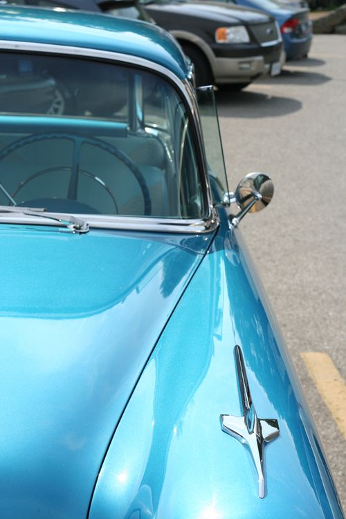 Blue vintage car suzanne carillo style files