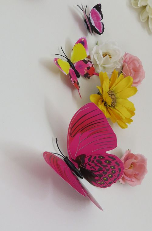 How to decorate with butterflies and flowers 3D wall treatment home dec idea suzanne carillo