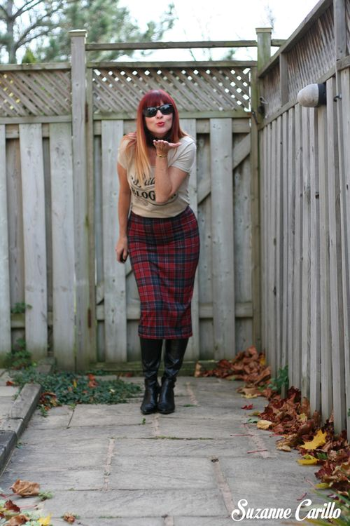 How to wear plaid maxi skirt with boots suzanne carillo