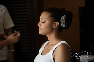 African American professional wedding hair and make-up Cabo