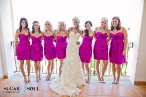 Bridesmaids wedding hair and make-up Cabo