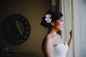 Asian wedding hair and make-up at Dreams Los Cabos by Suzanne Morel team