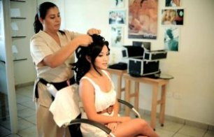 Los Cabos wedding hair and make-up salon Suzanne Morel