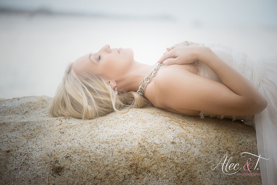 Flawless Cabo wedding make-up trash the dress photo session Suzanne Morel