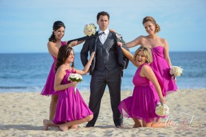 Bridesmaids wedding hair and make-up Barcelo Los Cabos photography Alec & T