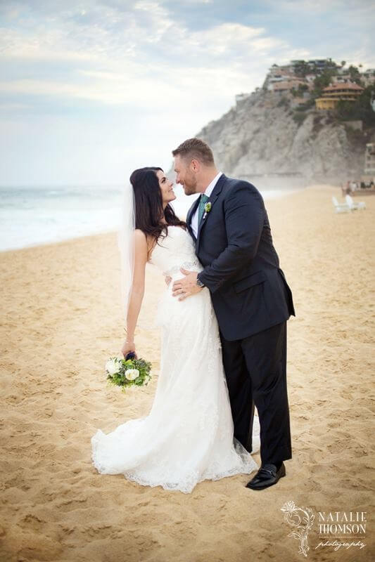 Sandos Cabo bride and groom