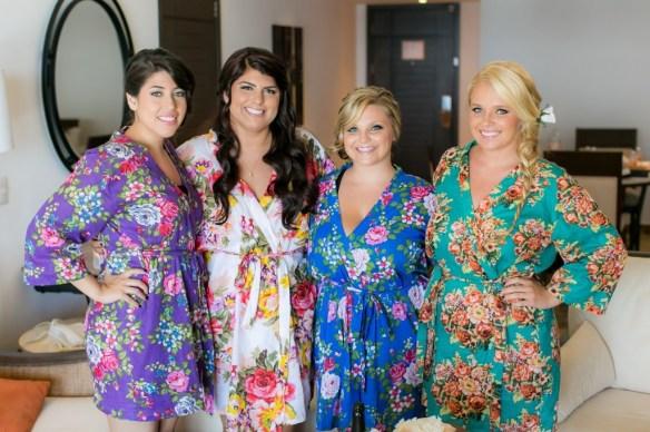cabo wedding bridesmaids and bride