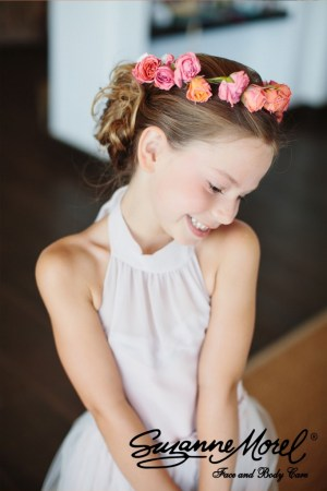updo- flower girl -hairstyle- Cabo-wedding