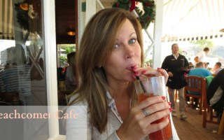 Basking in the beauty at the Beachcomber Cafe in Crystal Cove