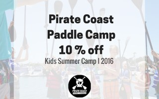 Pirate Coast Paddle Company Kids Camp + 10 % off coupon