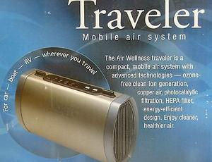 travel air filter HEPA COPD asthma allergies nikken