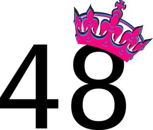 The Number forty-eight with crown