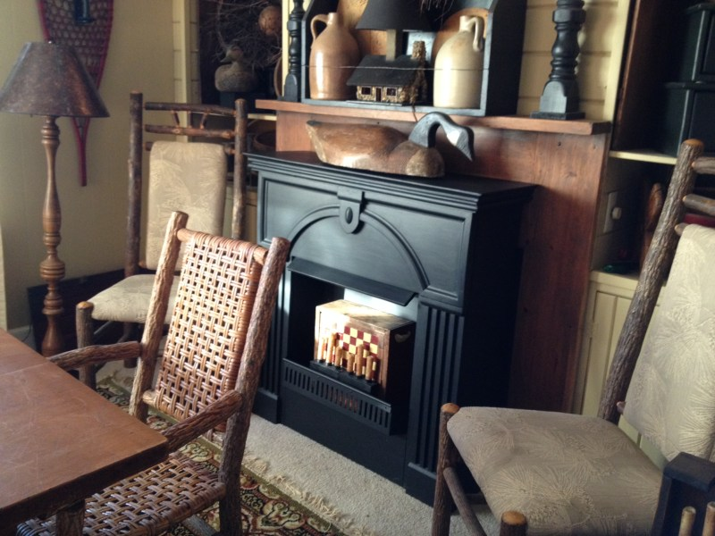 Fireplace Mantles - Who says two objects cannot occupy the same space? Not me!