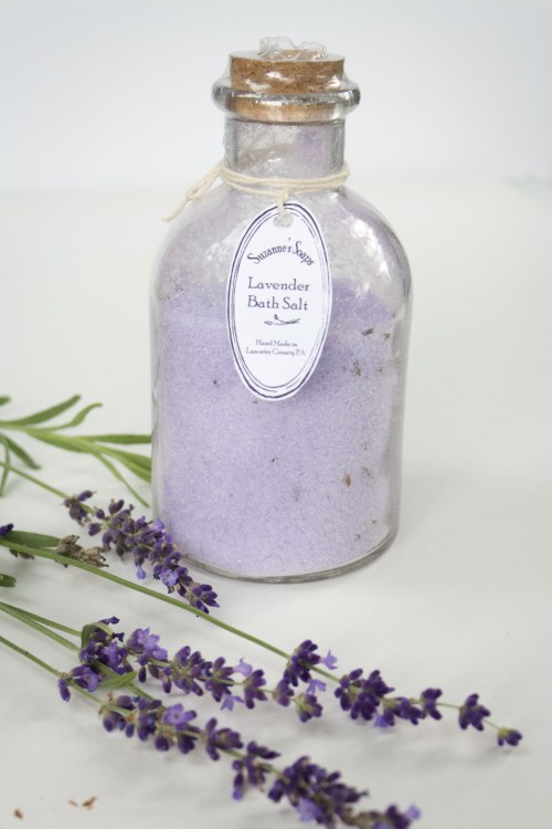 Suzanne's soaps Heavenly Lavender bath salt & mineral soak large 2cup jar with cork