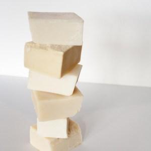 Suzanne's Soaps Grandma's lye soap bar stack