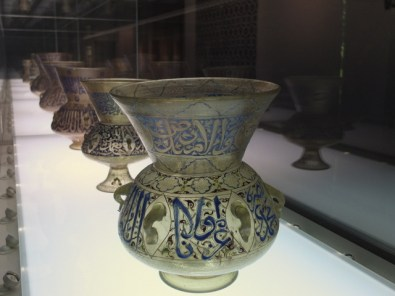 Mosque lamps from Egypt, 14th C.