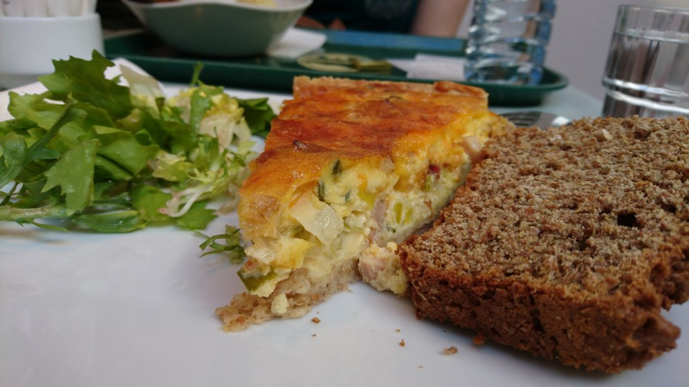 Quiche and soda bread for lunch