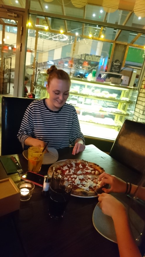 Grace with Margherita Pizza
