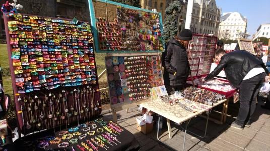 Artisan market in Piata Libertatii