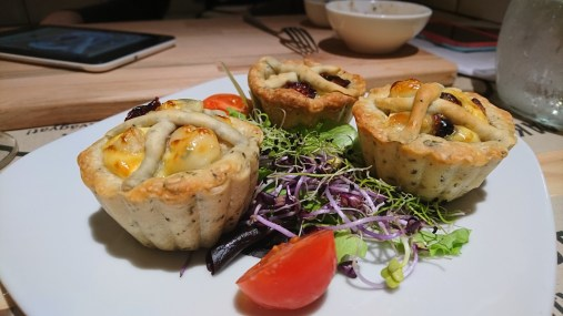Final product of the mini quiches