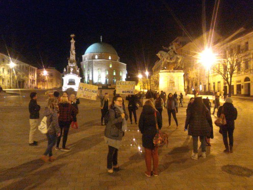 Women's rally in the main square