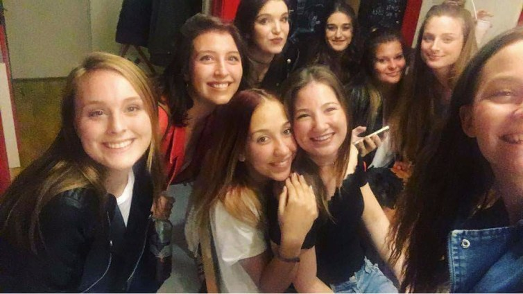 Grace, Eszter, Abby, Maddie, her cousin, Bettina and Kriszti