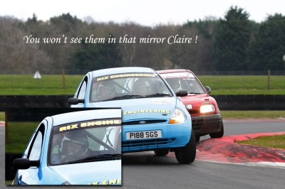 About to overtake the Ka, photo courtesy of M&H Photography