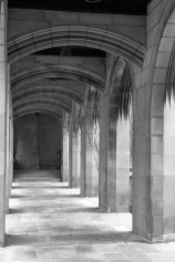 Arcade passageway outside the Fourth Presbyterian Church Chicago