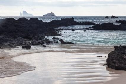 Beach ladscape on San Cristobal Island
