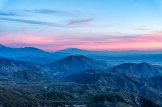 sunset arrowhead mountains