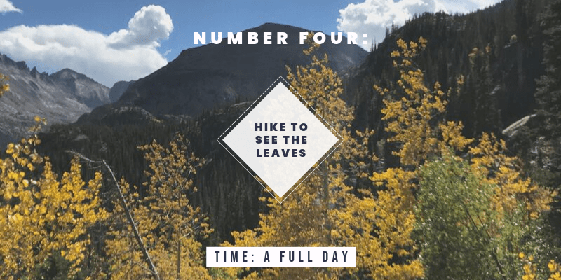 Things to do in Colorado in the Fall: Hike to see the changing leaves