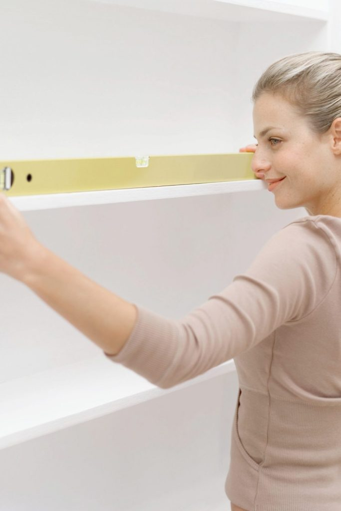 Measuring is an important part of pantry design.