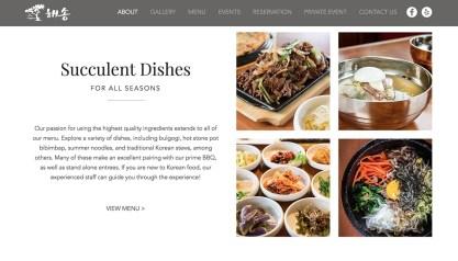 Hae Song Korean food photography