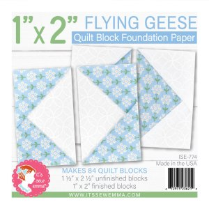 """1"""" X 2"""" Flying Geese Foundation Paper ISE-774"""