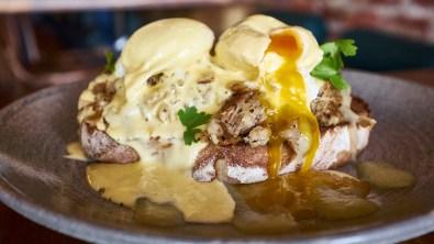 Eggs Benedict. Hard Pressed Cafe East Melbourne.