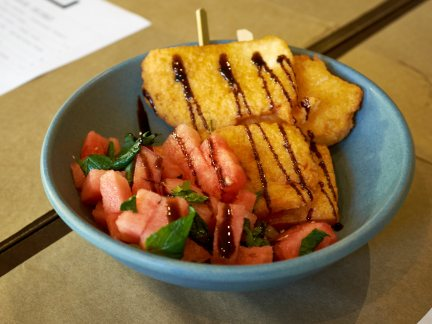 Halloumi Mini Skewers -  The Left Handed Chef