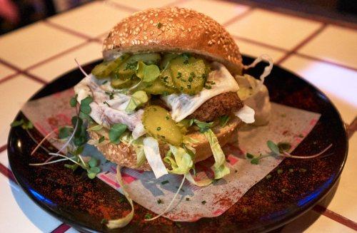 Chicken Burger Evie's Disco Diner Fitzroy