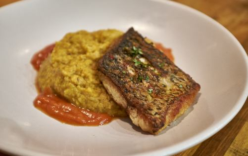 Khichudi with barramundi at Food Tales Ormond