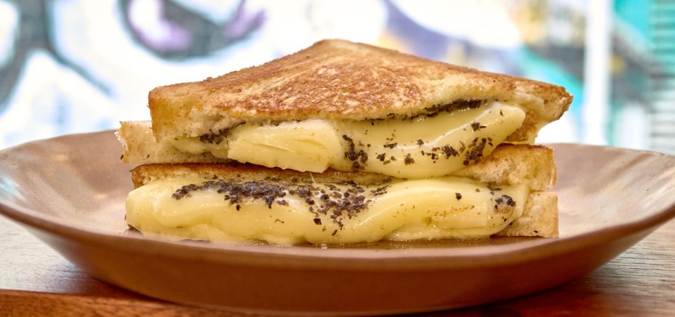 cheese and truffle toastie