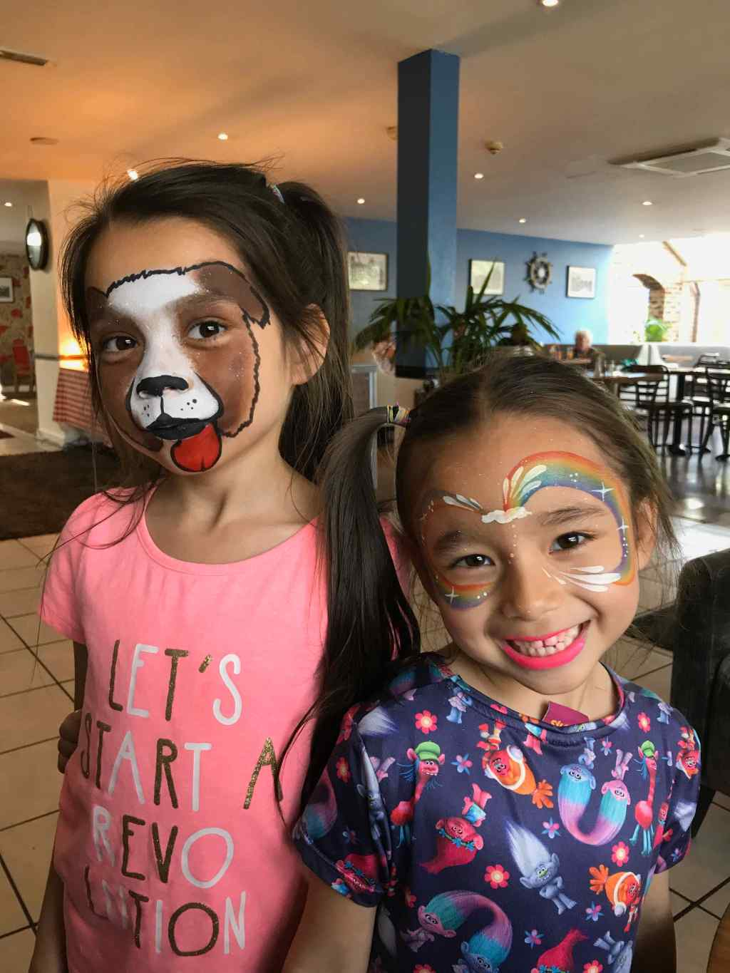 Dog and Rainbow Face Paints